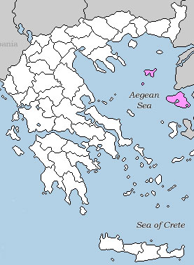 Hellas Lesvos map
